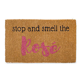 Smell the Rose Coir Door Mat