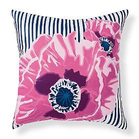 Selena Floral Stripe Outdoor Pillow