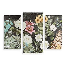 Bloom Triptych Wood Art