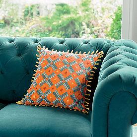 Iris Apfel Reversible Embroidered Pillow