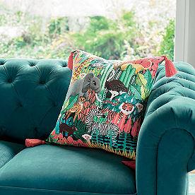 Iris Apfel Jungle Print Pillow