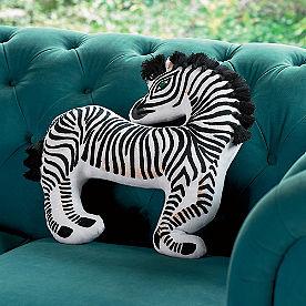 Iris Apfel Zebra Shaped Pillow