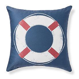 Hampton Life Preserver Outdoor Pillow