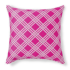 Mila Clio/Pink Outdoor Pillow