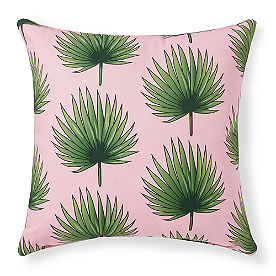 Leila Palm Fronds Outdoor Pillow