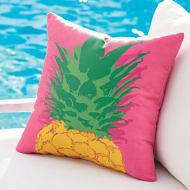 Tropical Pineapple Outdoor Pillow