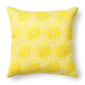 Tropical Lemon Outdoor Pillow
