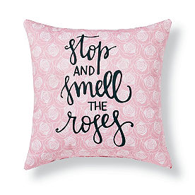 Stop and Smell the Roses Outdoor Pillow