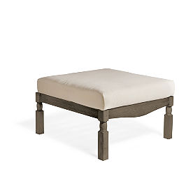 Yorkshire Ottoman with Cushion in Weathered Grey Finish