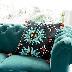 Iris Apfel Crewelwork Pillow