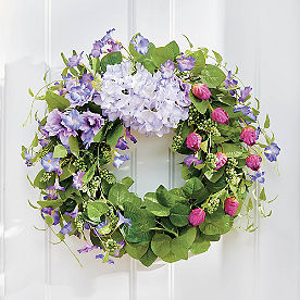 Purple Blooming Blossom Wreath