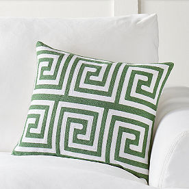 Greek Key Palm Canyon Pillow