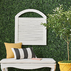 Arched Shutter Outdoor Wall Decor