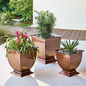 Copper Footed Planter