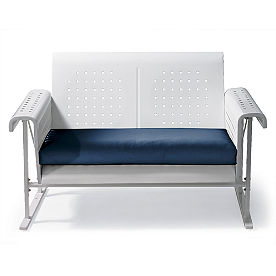 Retro Squares Glider Loveseat Cushion