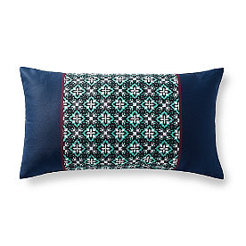 Rosalia Geo Lumbar Outdoor Pillow