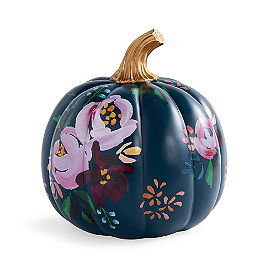 Designer Navy Floral Pumpkin