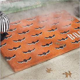 Orange Bats Doormat