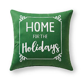 Home For The Holidays Outdoor Pillow