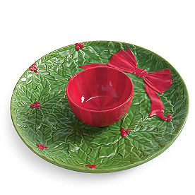 Wreath Platter and Bowl Set