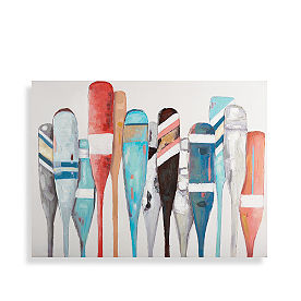 Colorful Oars Wall Art
