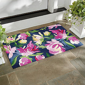 Watercolor Floral Outdoor Mat