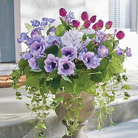 Purple Blooming Blossom Urn Filler
