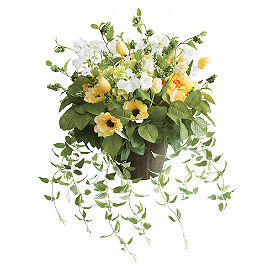 Yellow Blooming Blossom Urn Filler