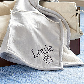 Personalized Shearling Pet Blanket