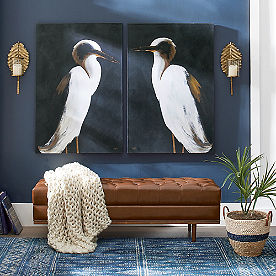 White Heron Wall Art