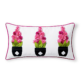 Topiary Pink Outdoor Lumbar Pillow