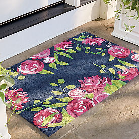 Delicate Floral Outdoor Mat