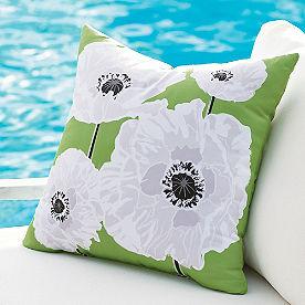 Selena Abstract Floral Outdoor Pillow