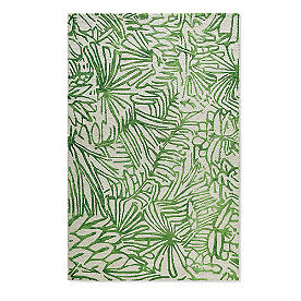Tropical Leaves Outdoor Rug