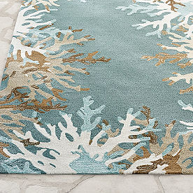 Marina Coral Border Outdoor Rug