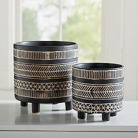 Alma Ceramic Planters, Set of Two