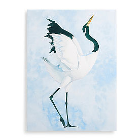 Japanese Crane Wall Art, Set of Two