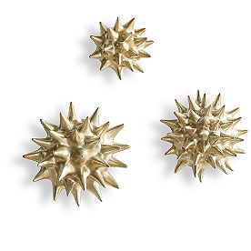 Spiky Coral Wall Decor, Set of Three