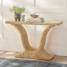 Newport Woven Console Table