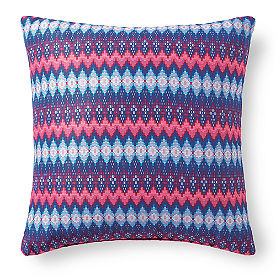 Austin Blue Geo Outdoor Pillow
