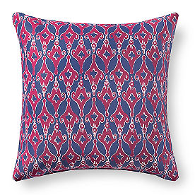 Austin Blue Ikat Outdoor Pillow