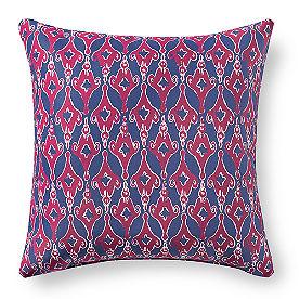Austin Blue Ikat Outdoor Pillow