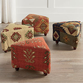 Triangular Kilim Ottomans