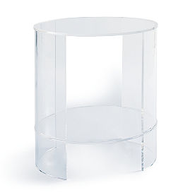 Chamonix Acrylic Oval Side Table