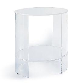 Chamonix Acrylic Oval Side Table