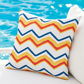 Rainbow Chevron Outdoor Pillow