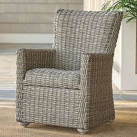 Simsbury Outdoor Wicker Dining Chairs, Set of Two