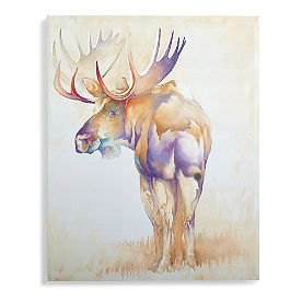 Watercolor Moose Wall Art