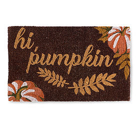 Hi Pumpkin Coir Door Mat