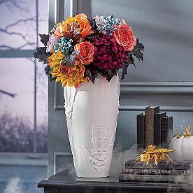 White Skeleton Hand Vase